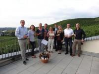 Glückliche Gewinner des Weinquizes