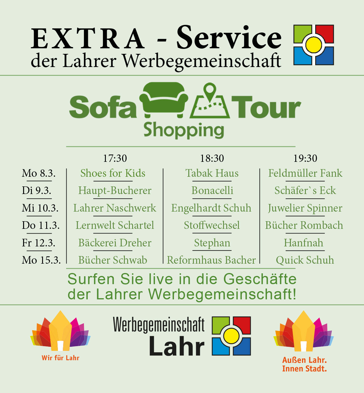 sofa shopping tour