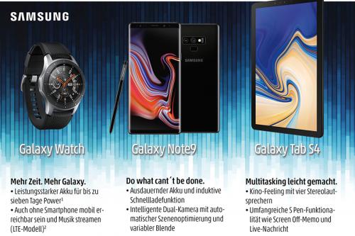 Samsung dringt in neue Galaxien vor