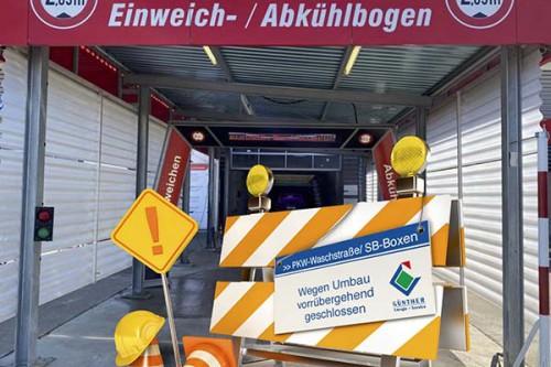 Ab dem 20.04. sind unsere PKW-Waschstraße und die SB-Waschboxen für 2 Wochen geschlossen.