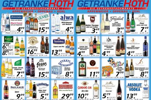 Flugblatt von Getränke Roth
