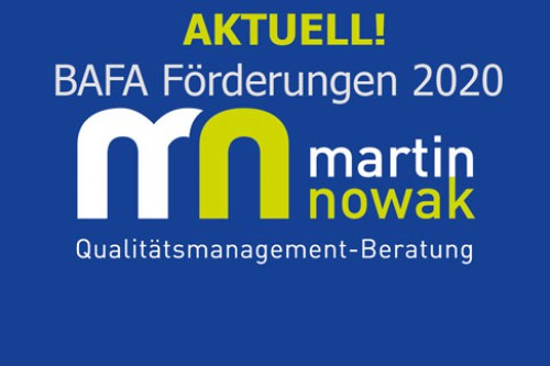 Achtung! BAFA Förderungen 2020!