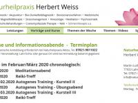Kurskalender 2020   -   Naturheilpraxis Weiss Lahr