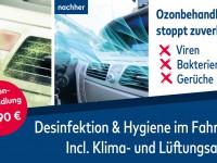 Ozon Behandlung im Fahrzeug bei Autohaus Korfmacher in Ettenheim